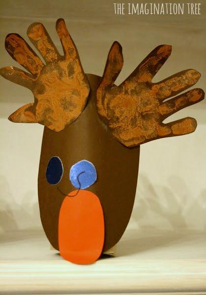 Handprint Rudolph activity