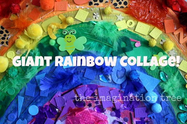 Giant Rainbow Collage The Imagination Tree