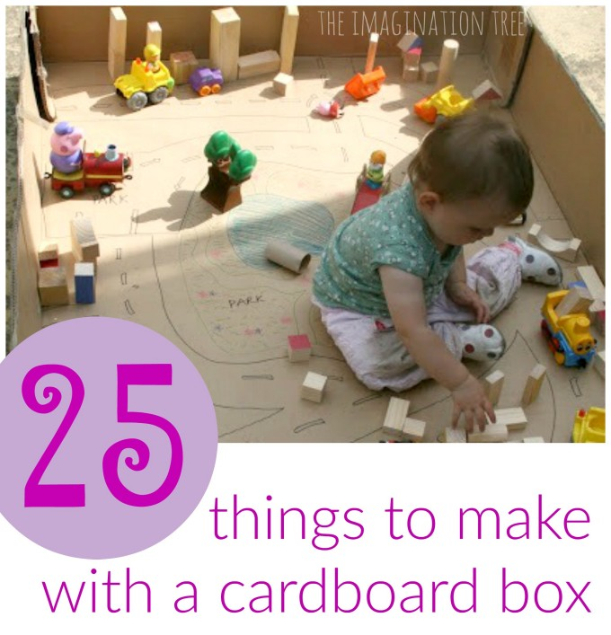 25 creative ways to use a cardboard box the imagination tree for Wealth out of waste ideas for adults