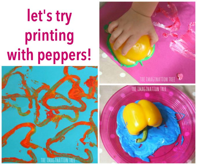 Let's try printing with peppers! Art fun for preschoolers