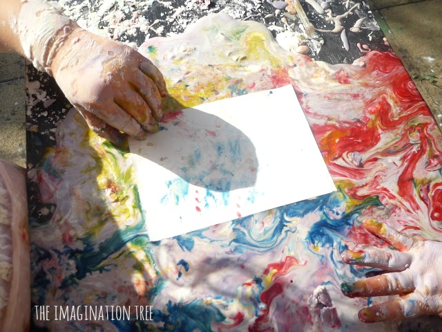 Lifting monoprints from oobleck