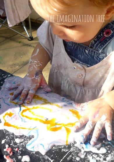 Mixing colours through gak