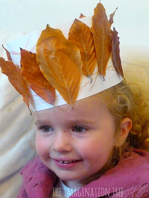 leaf crown autumn art activity