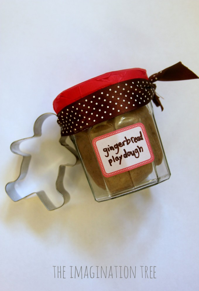 DIY gingerbread play dough gift