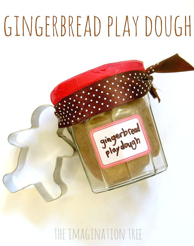 No-cook gingerbread play-dough recipe