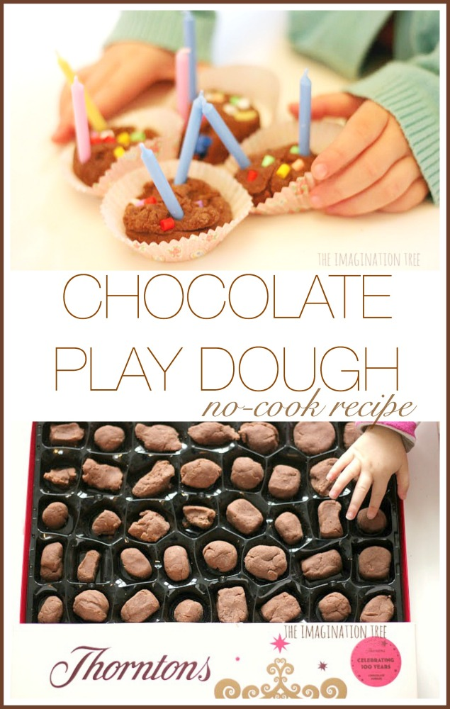 No-cook chocolate play dough recipe