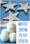 White sparkly snow play dough