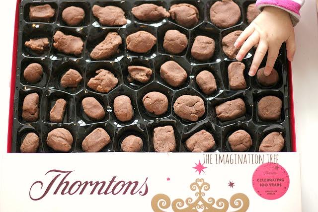 chocolate box play dough