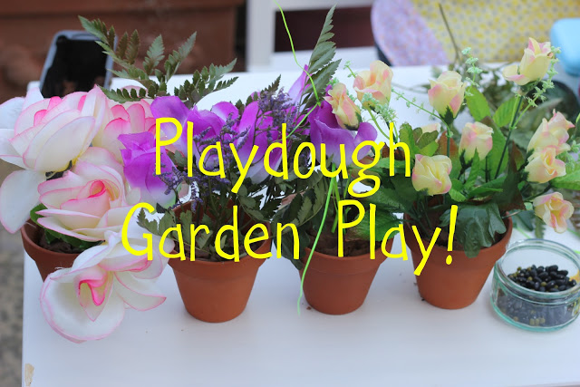 mud play dough garden imaginative play