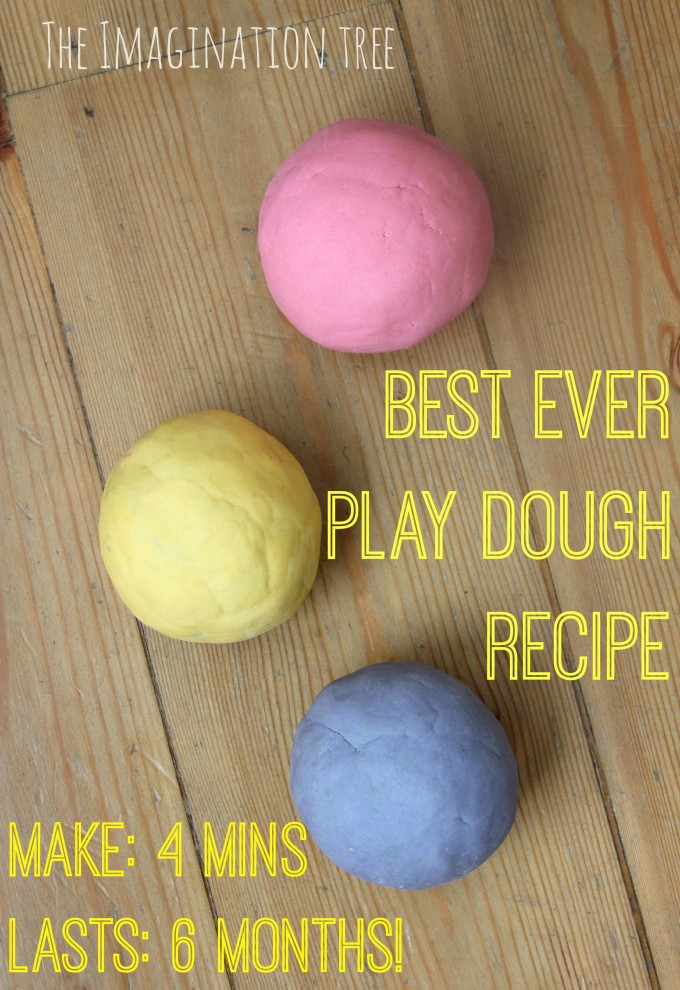 Best ever no-cook play dough recipe- The Imagination Tree