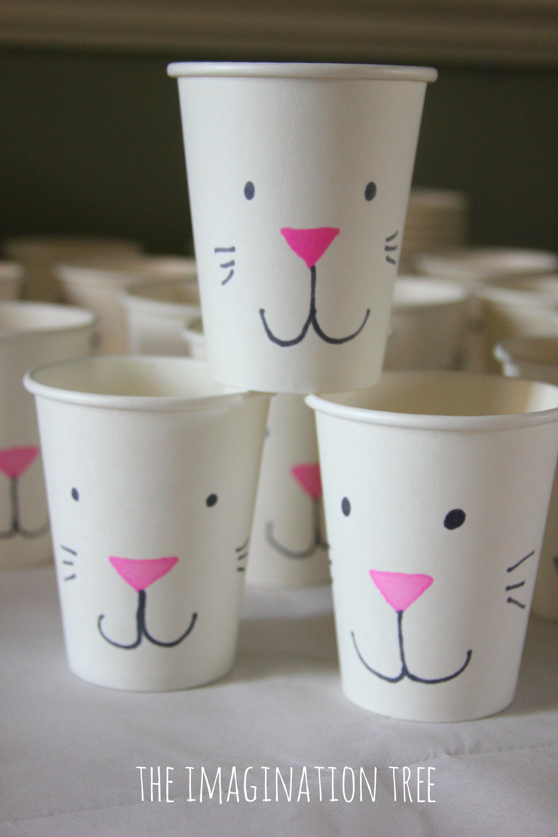 Bunny Treat Cups For Easter
