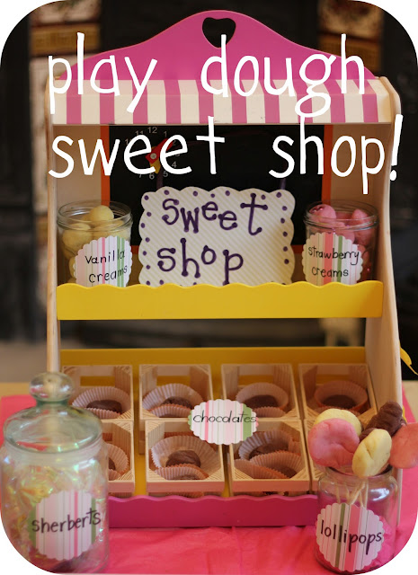 play dough candy store sweet shop play