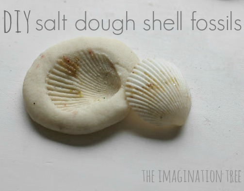 Salt dough shell prints