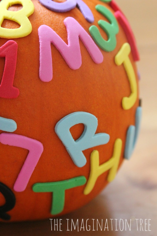 Alphabet pumpkins playful literacy game