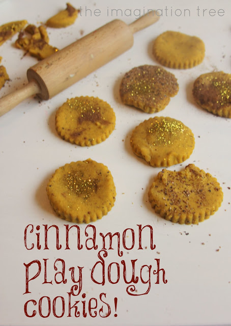 fall and autumn cinnamon no-cook play dough recipe