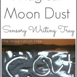 Magical moon dust sensory writing tray
