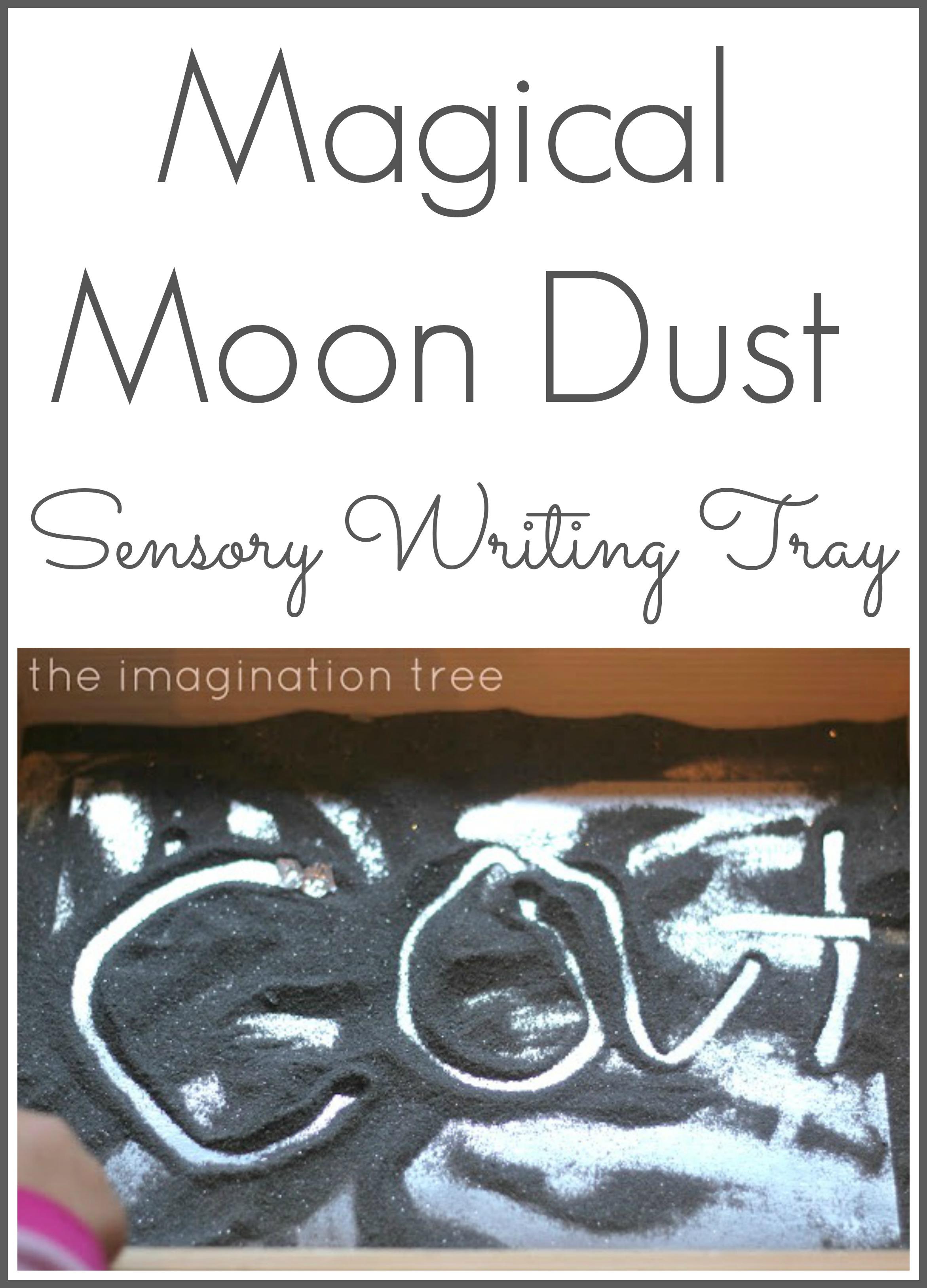 Moon Dust Sensory Writing Tray The Imagination Tree