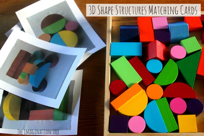 Shape Blocks Matching Picture Cards The Imagination Tree
