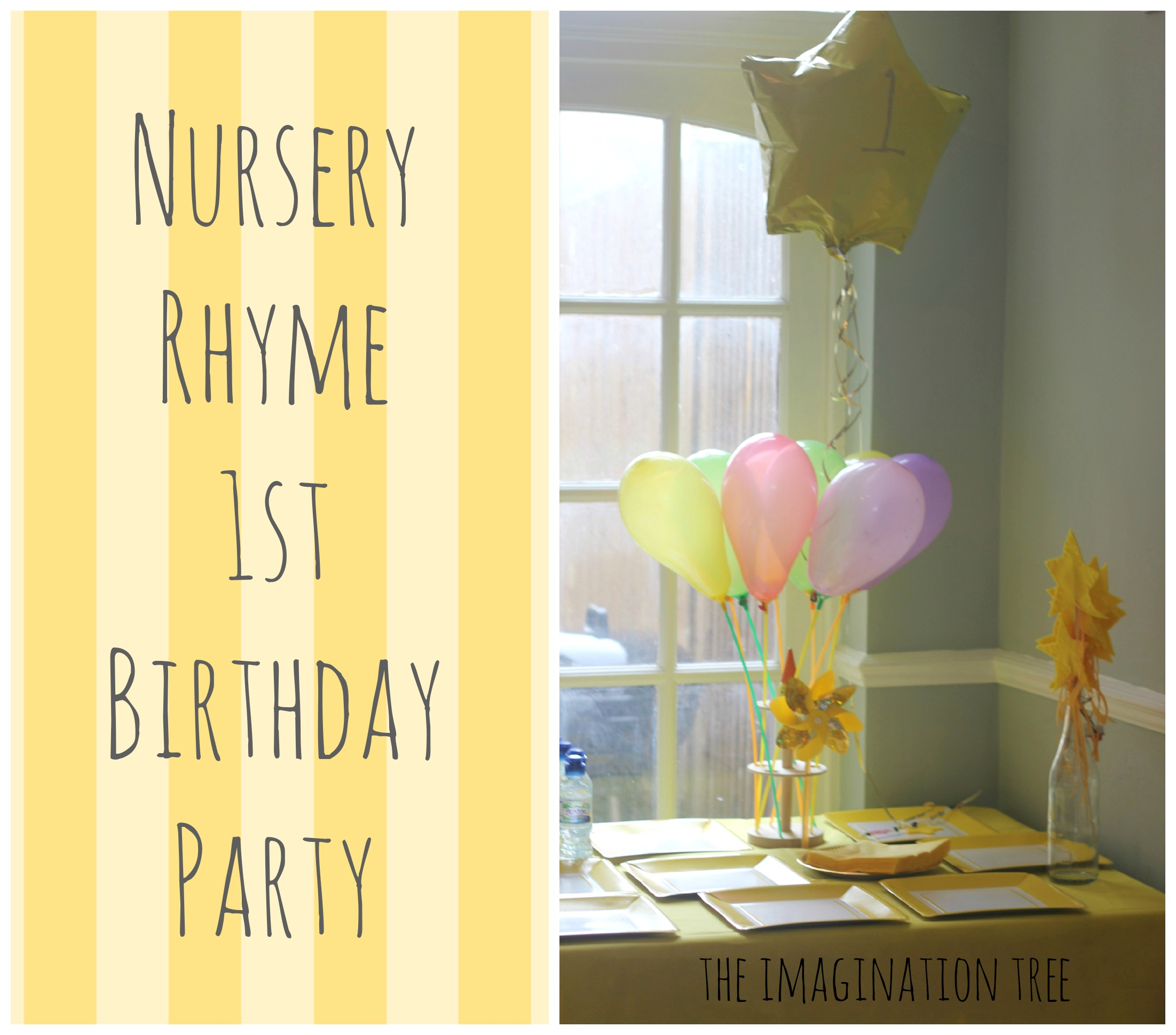 Nursery Rhyme Party For Baby S 1st Birthday The Imagination Tree