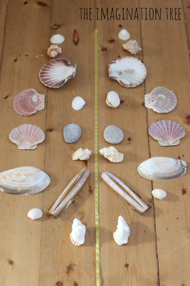 Making symmetrical patterns with shells
