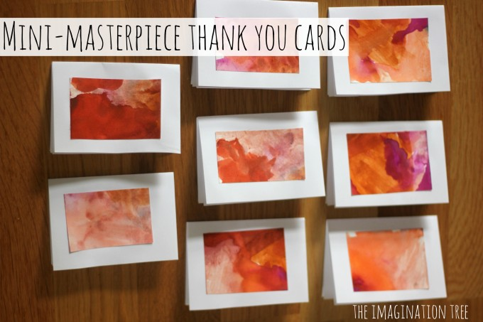 Mini Watercolour Thank You Cards Craft for Kids