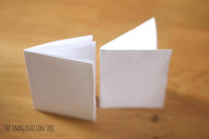 Mini folded paper thank you cards