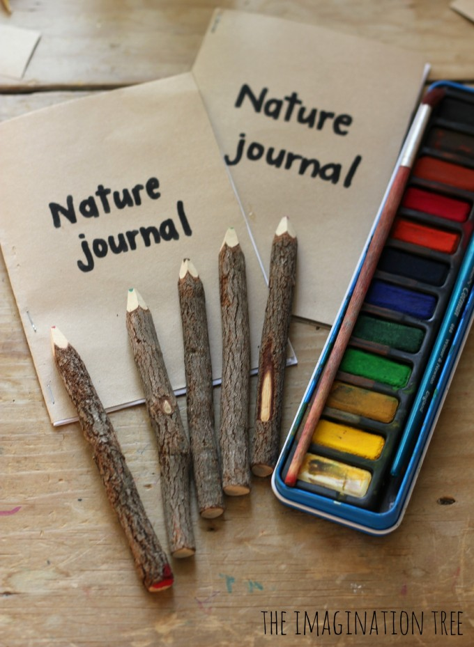 Nature journalling with kids