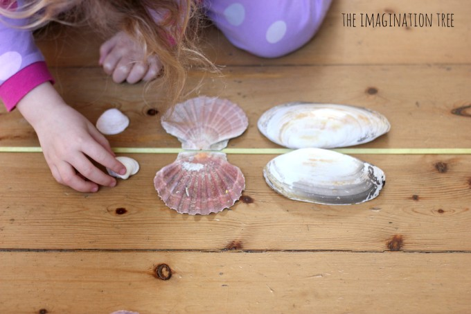 Simple pattern making with shells