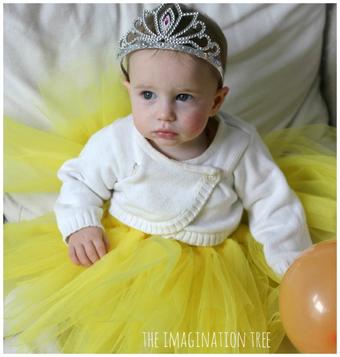 birthday baby in tutu