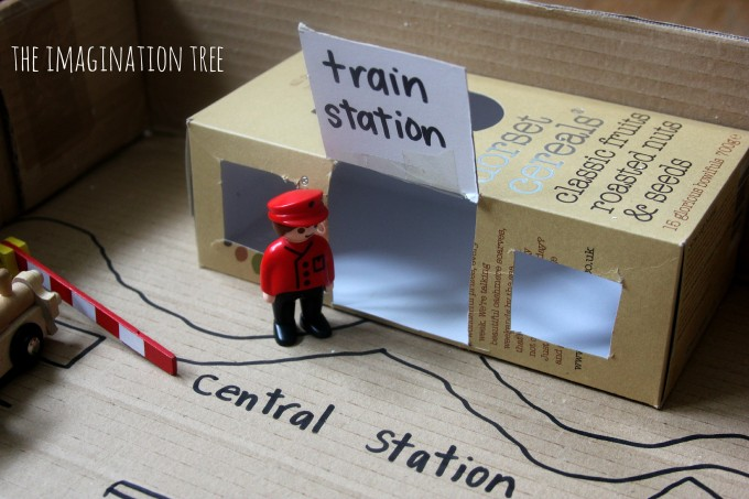 cereal box train station