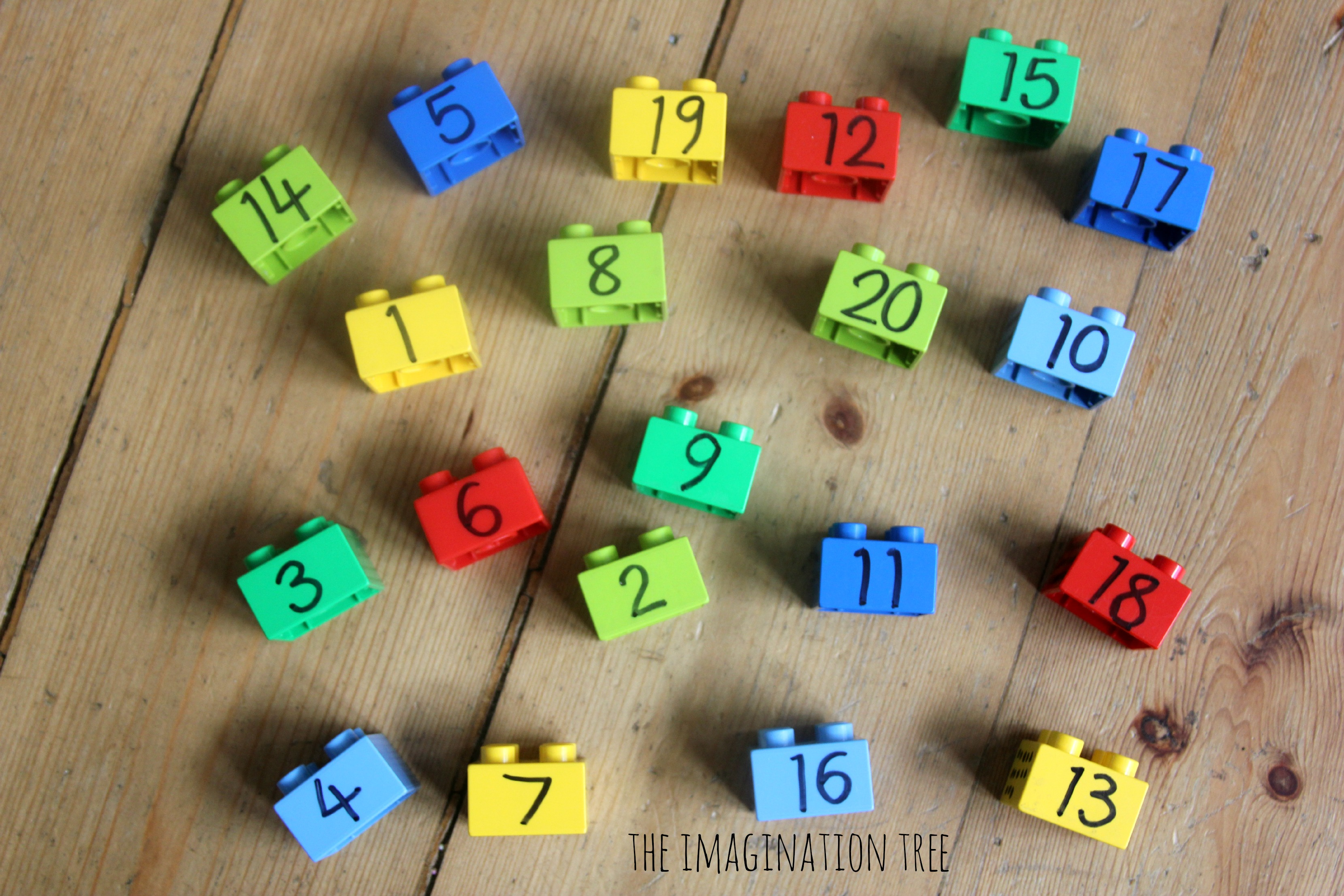 Lego number blocks and lots of ideas for using them in maths games