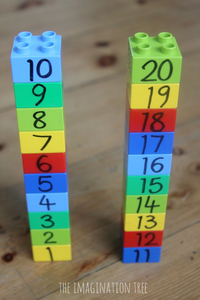 lego number towers