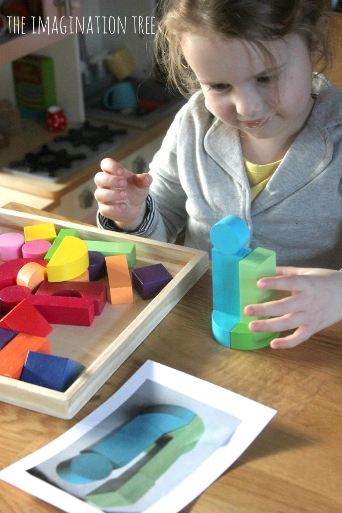Matching solid shape models math activity