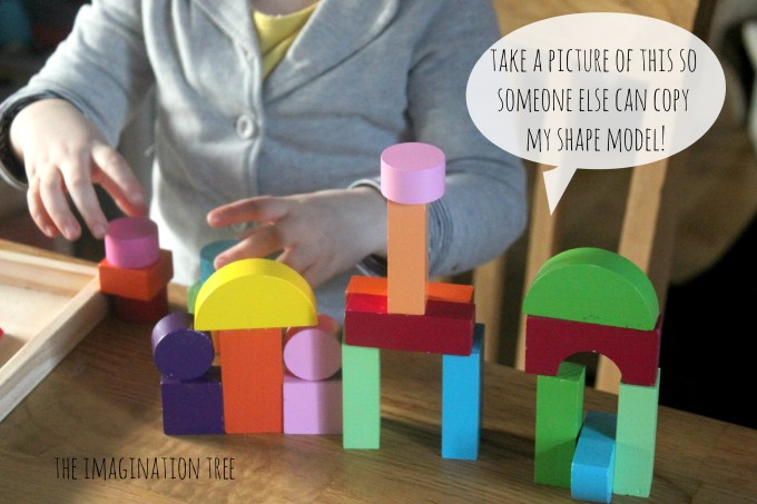 Building models with shape blocks