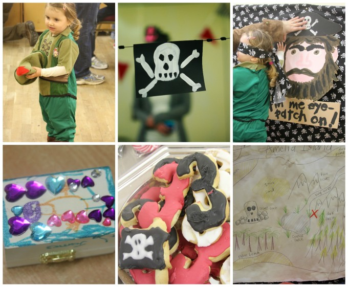 pirate party 6 picture collage
