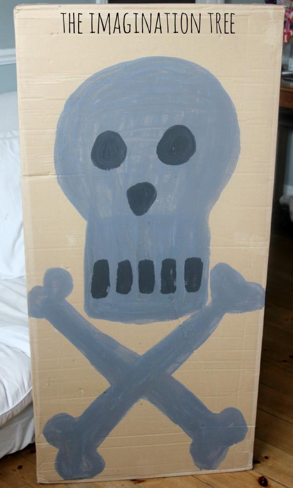 skull cave box