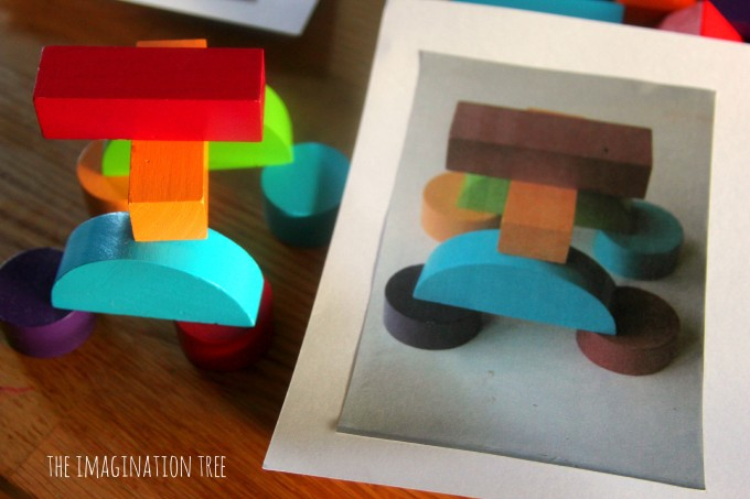Solid shapes and matching picture cards