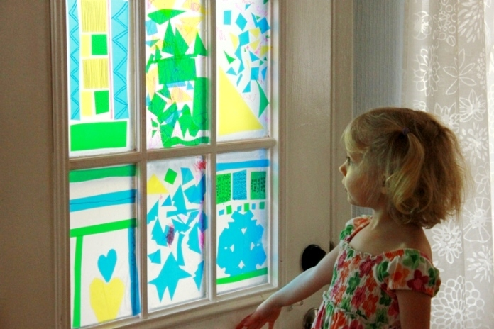 stained glass suncatcher & Stained Glass Quilt Art Project for Kids - The Imagination Tree