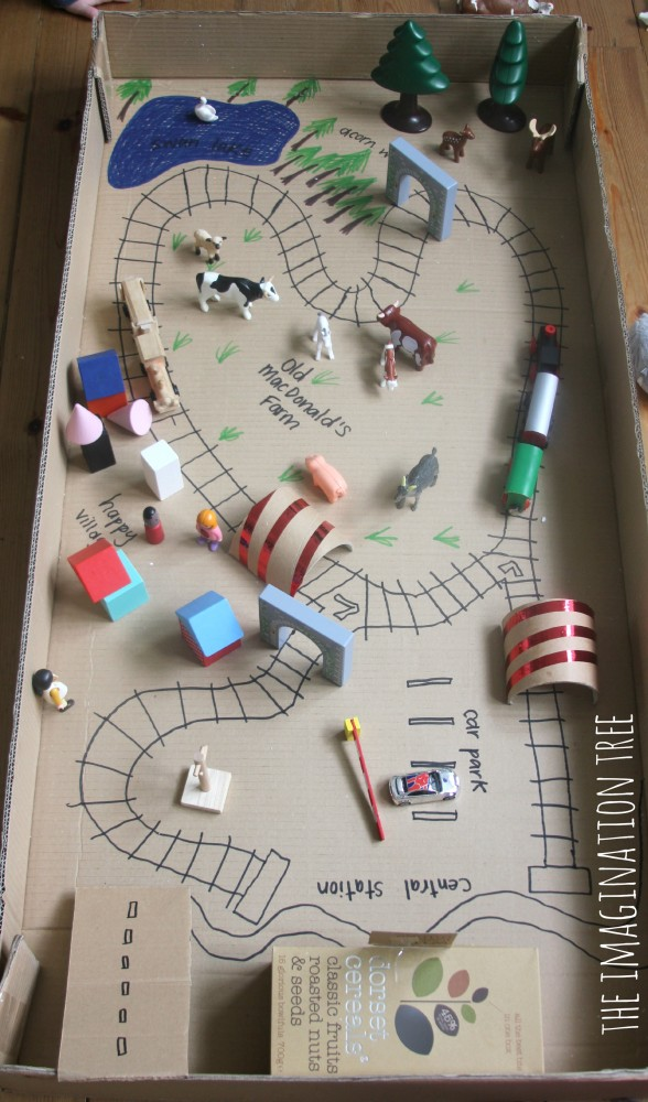 train tracks in a box small world play