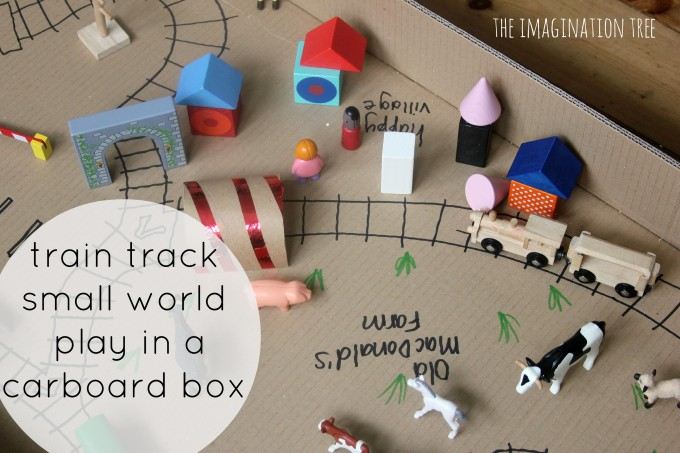 train tracks small world play in a box