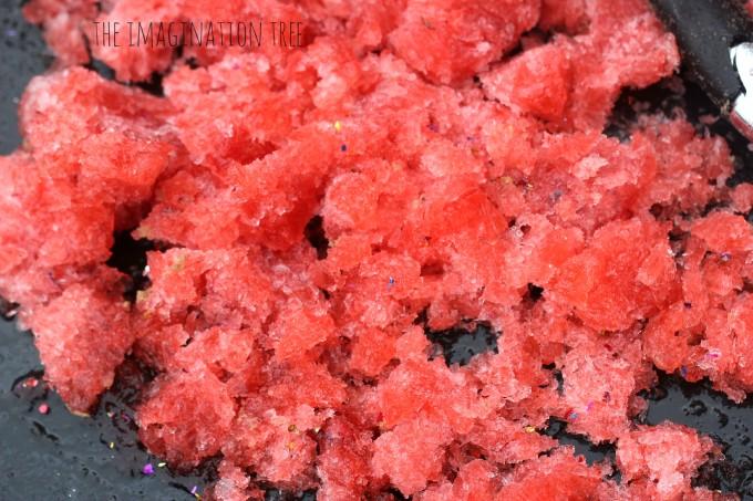 Defrosting frozen jello