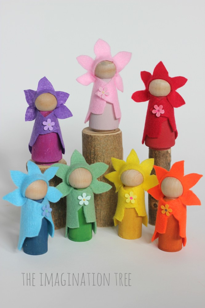 Flower fairy wooden dolls tutorial