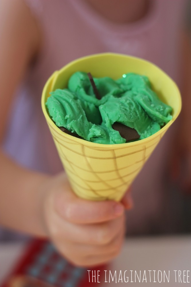 Mint Choc Chip Playdough Ice Cream