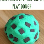 Mint choc Chip Ice cream play dough