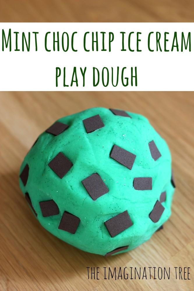Mint Choc Chip Play Dough Ice Cream Recipe