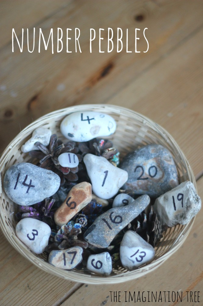 Number pebbles resource for playful maths activities