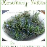 Rosemary Scented Water for Natural Sensory Play
