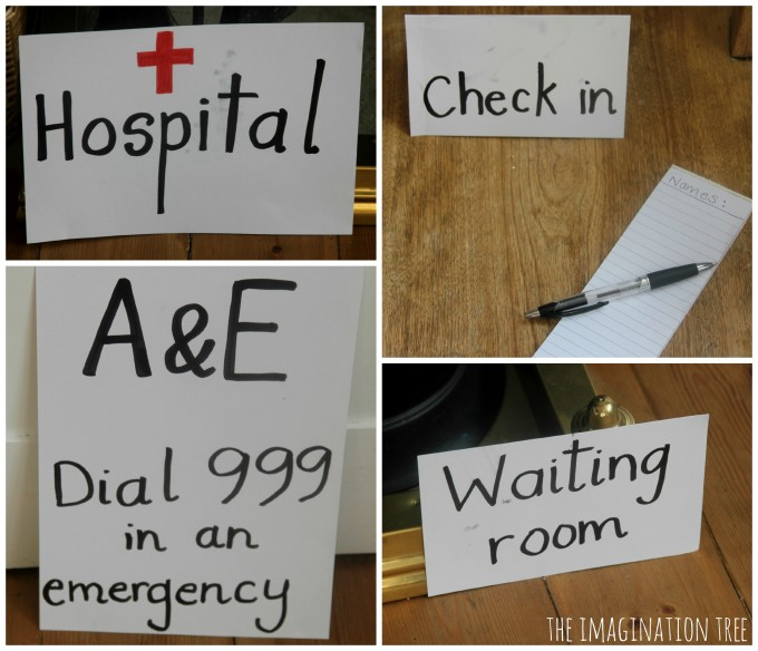 hospital signs for doctor role play games