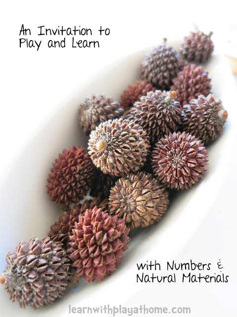 learn with play at home natural materials