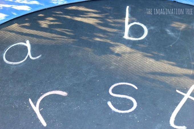 Alphabet trampoline